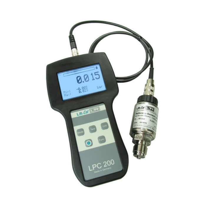 Calibrators and exemplary pressure measuring instruments LPC 200