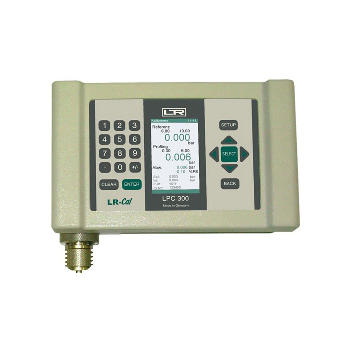 Calibrators and exemplary pressure measuring instruments LPC 300