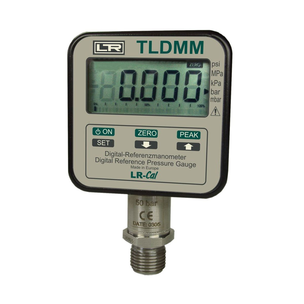 Calibrators and exemplary pressure measuring instruments TLDMM